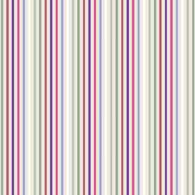 Arwen Stripe (Cotton) - 7 - Multicoloured cotton fabric featuring a design of narrow stripes