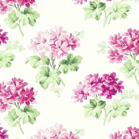 Charlotte (Cotton) - 8 - Cotton fabric in ivory featuring colorful floral design