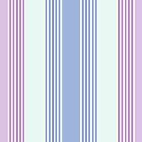 Charlotte Stripe (Cotton) - 1 - Cotton fabric with a striped design in ice blue, denim blue and lavender
