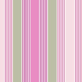 Charlotte Stripe (Linen Union) - 5 - Vertical stripes of white, light grey and different shades of pink printed on fabric made from linen