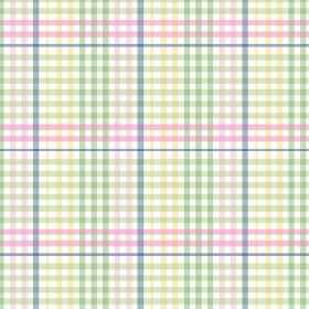 Sophie Check (Cotton) - 3 - White cotton fabric covered in small blue, yellow, green and pink checks