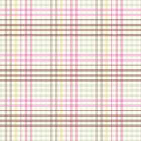 Sophie Check (Linen Union) - 4 - A checked design of brown, yellow, pink and green-grey printed on fabric made from linen
