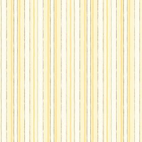 Baden (Cotton) - 3 - Rough bright yellow, light yellow and gold stripes printed on white cotton fabric