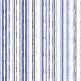 Baden (Cotton) - 5 - Stripes in different shades of blue running vertically down white cotton fabric