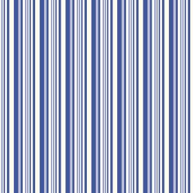 Buxton (Linen Union) - 5 - A repeated pattern of narrow bright blue, light blue and white stripes on linen fabric