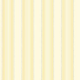Cheltenham (Cotton) - 3 - Cotton fabric in cream, with a repeated pattern of stripes fading through different shades of yellow