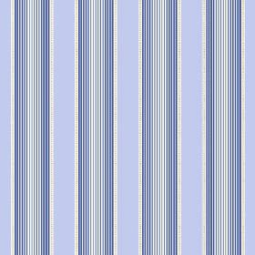 Cheltenham (Linen Union) - 5 - Different shades of blue making up a repeated, graduated pattern, with light blue, on white linen fabric