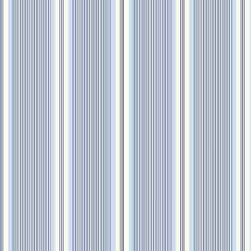 Fortuna (Cotton) - 1 - Cotton fabric with a design of very narrow stripes in white and blue colours