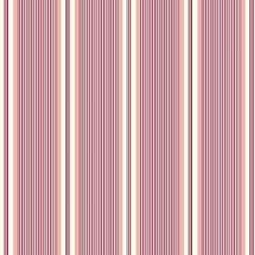 Fortuna (Cotton) - 2 - Red, pink and cream coloured lines which are very narrow and printed in a repeated pattern over cotton fabric