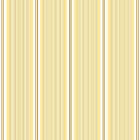 Fortuna (Linen Union) - 3 - Repeated yellow, gold and cream coloured lines creating a striped pattern on linen fabric