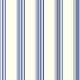 Harrogate (Linen Union) - 1 - Fabric made from white linen, striped with bands of blue which fade through different shades