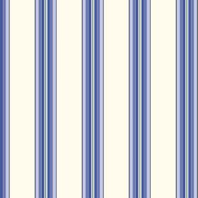 Harrogate (Cotton) - 5 - Bright blue and grey colours making up a fading striped design which is repeatedly printed over white cotton fabric