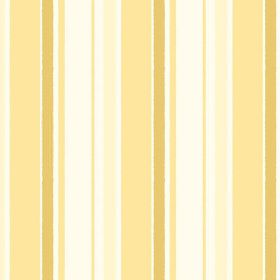 Aix An Provence (Cotton) - 3 - Stripes of different shades of yellow and gold on a white cotton fabric background