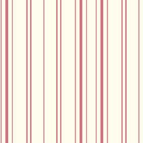 Llandridod (Linen Union) - 2 - Linen fabric in white, printed with a simple striped pattern of dusky pink lines