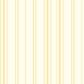 Llandridod (Cotton) - 3 - Light yellow lines intermittently spaced across fabric made from white cotton