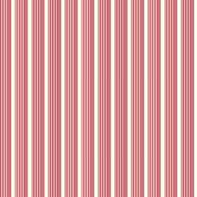 Lemington (Linen Union) - 2 - Salmon pink stripes on dusky pink-red stripes, which are printed with even spacing on cotton fabric in white