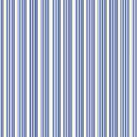 Lemington (Cotton) - 5 - Stripes with a three dimensional effect due to being made up of two different colours of blue, on white cotton fabr