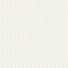 Matlock (Linen Union) - 1 - Linen fabric in white, with subtle, narrow grey vertical lines containing tiny grey dots