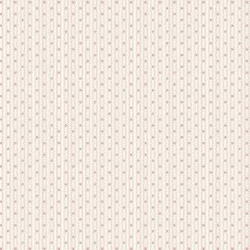 Matlock (Cotton) - 2 - Very pale beige coloured vertical lines and tiny dots patterning this white cotton fabric