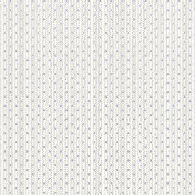Matlock (Linen Union) - 5 - Rows of tiny dots in grey-blue, within narrow grey-blue lines, patterning fabric made from white linen