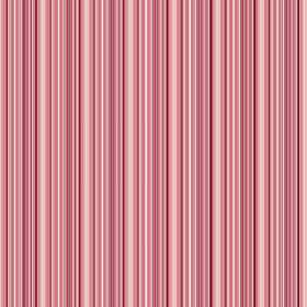 Moffat (Cotton) - 2 - Fabric made from cotton with a narrow stripe design in shades of red, salmon pink, white and cream