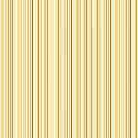 Moffat (Cotton) - 3 - Yellow, gold and cream stripes which are very narrow making up a pattern for this swatch of cotton fabric