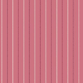 Mont Dore (Linen Union) - 2 - White and dark red pinstripes printed onto a background of dusky pink-red linen fabric