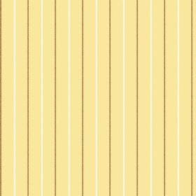 Mont Dore (Cotton) - 3 - Cream and brown pinstripes printed at equal intervals over cotton fabric which is pale yellow in colour