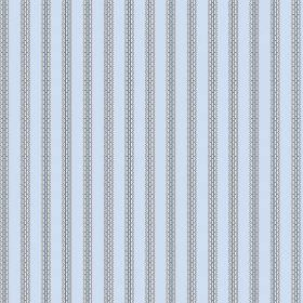 Padua (Cotton) - 1 - Light blue cotton fabric with a design of grey stripes which appear to have a brick pattern