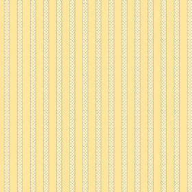 Padua (Cotton) - 3 - Cotton fabric in light yellow, featuring a design of textured effect, cream coloured vertical stripes