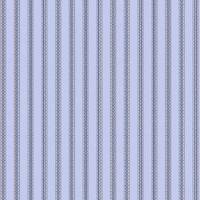 Padua (Linen Union) - 5 - Light grey and purple brick effect stripes against a background of lilac coloured linen fabric