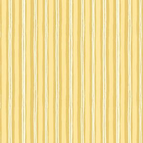 Sochi (Linen Union) - 3 - Linen fabric with white, gold and yellow stripes printed unevenly down its length