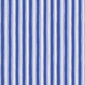 Sochi (Cotton) - 5 - Fabric made from cotton with white and blue stripes which are messy and which appear to be painted on