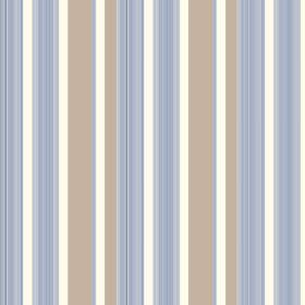 Taupo (Linen Union) - 1 - Fabric made from light brown, light blue and white striped linen