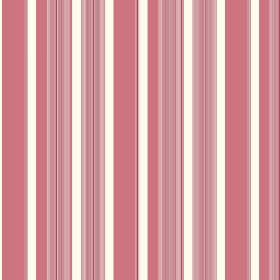 Taupo (Linen Union) - 2 - Dusky pink and salmon pink coloured striped linen, printed with occasional, regularly sized bands of white