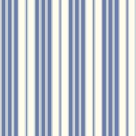 Vichy (Cotton) - 1 - A neat, regular striped pattern in two shades of blue on white cotton
