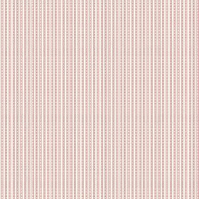 Viterbo (Linen Union) - 2 - Dotted dusky pink lines printed as a stripe pattern on a background of white linen fabric