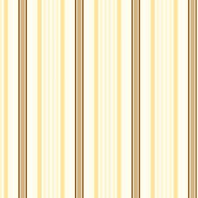 Woodhall (Linen Union) - 3 - A repeated striped pattern printed on linen fabric in white, yellow, gold and brown