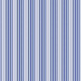 Bath (Linen Union) - 5 - Bright blue and light blue shades making up a repeated striped pattern printed on linen fabric