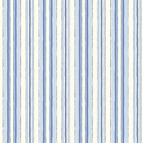 Baden (Cotton) - 1 - A rough striped design on white and blue coloured cotton fabric