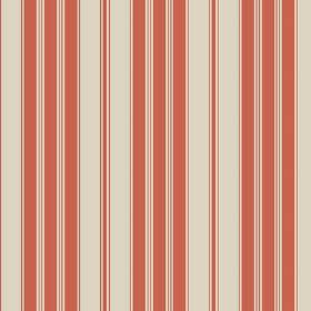 Haven (Linen Union) - 4 - Stone coloured linen fabric as a background for a pattern of orange stripes