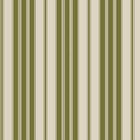 Haven (Cotton) - 6 - A striped design in olive green printed on a stone coloured cotton fabric background