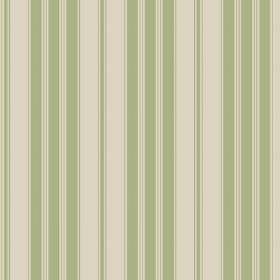 Haven (Linen Union) - 7 - Stone and light green coloured stripes running vertically down linen fabric