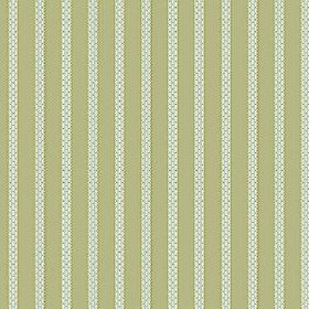 Zigzag (Cotton) - 2 - Textured white lines making up a pattern for light apple green coloured cotton fabric