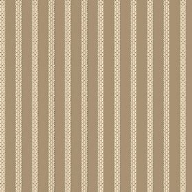 Zigzag (Cotton) - 3 - Brown and wheat coloured striped cotton fabric, with the lighter stripes appearing to have a brick or stitched pattern
