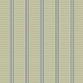 Andrei (Cotton) - 2 - Vertical blue-grey stripes with vertical and horizontal green stripes printed on cotton fabric