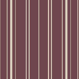 Toile Stripe Reverce (Cotton) - 2 - A repeated pattern of off-white stripes printed on dark purple cotton fabric
