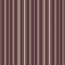 Toile Stripe Reverce (Linen Union) - 6 - Linen fabric in a dark aubergine colour, with a repeated stripe pattern in white