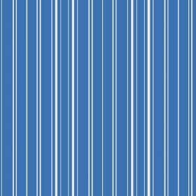 Toile Stripe Reverce (Linen Union) - 8 - White stripes as a vertical pattern for this bright, aqua blue coloured linen fabric