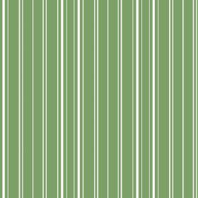 Toile Stripe Reverce (Cotton) - 9 - White stripes of slightly different widths repeatedly printed over grass green coloured cotton fabric
